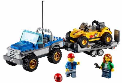 Конструктор LEGO City 60082 Перевозчик песчаного багги