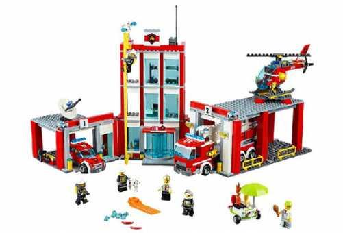 Конструктор LEGO City 60110 Пожарное депо