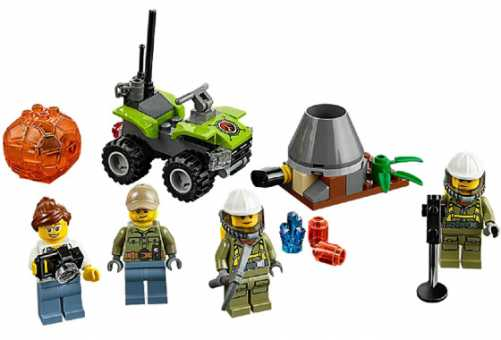 Конструктор LEGO City 60120 Набор для начинающих исследователей вулканов