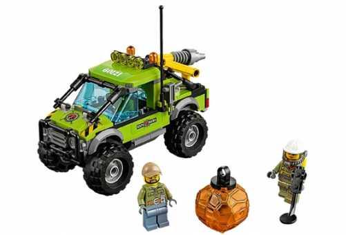 Конструктор LEGO City 60121 Внедорожник исследователей вулканов