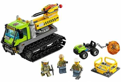 Конструктор LEGO City 60122 Гусеничный трактор исследователей вулканов