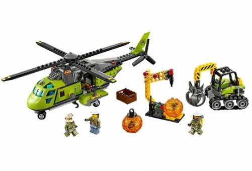 60123 - LEКонструктор LEGO City 60123 Транспортный вертолет исследователей вулканов