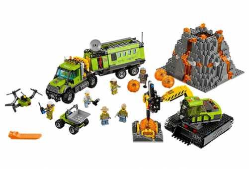 Конструктор LEGO City 60124 База исследователей вулканов