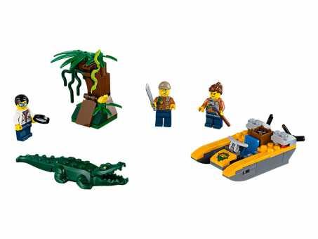 Конструктор LEGO City 60157 Набор для начинающих исследователей джунглей
