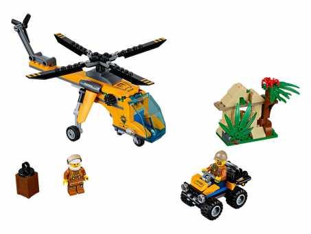 Конструктор LEGO City 60158 Грузовой вертолёт исследователей джунглей