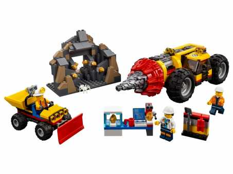 Конструктор LEGO City 60186 Тяжелый бур для горных работ