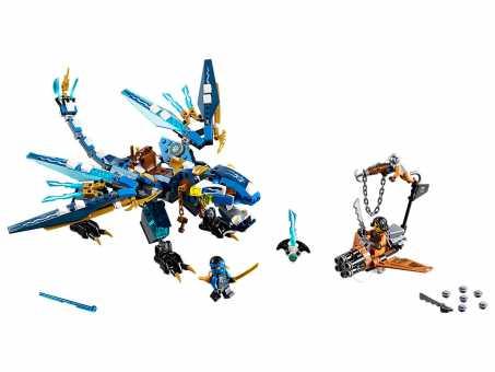 Конструктор LEGO Ninjago 70602 Джей и дракон Стихий
