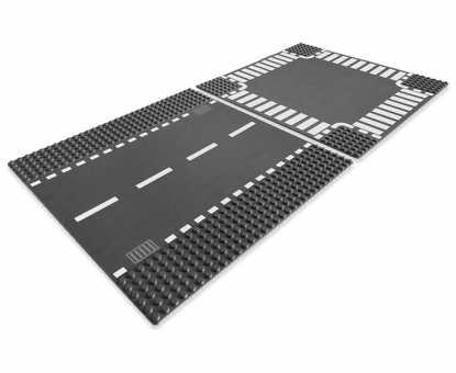 Дополнительные элементы для конструктора LEGO City 7280 Перекресток и прямая проезжая часть