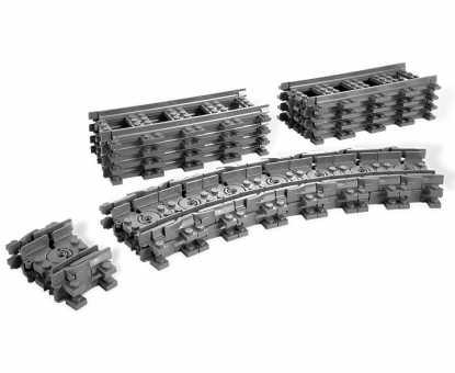 Конструктор LEGO City 7499 Гибкие и прямые рельсы