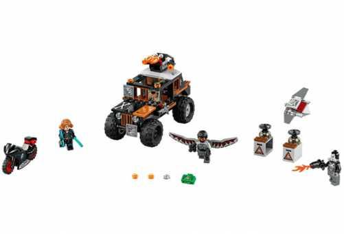 Конструкторы LEGO Конструктор LEGO Marvel Super Heroes 76050 Опасное ограбление Кроссбоунса