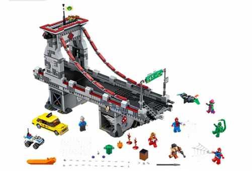 Конструктор LEGO Marvel Super Heroes 76057 Дуэль воинов с сетями на мосту