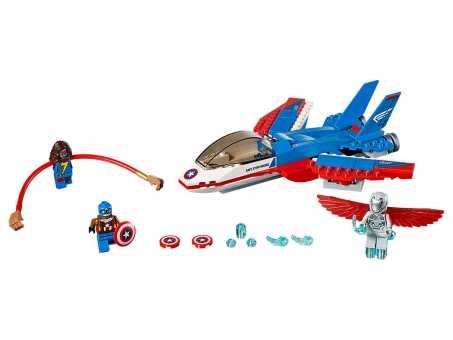 Конструктор LEGO Marvel Super Heroes 76076 Воздушная погоня Капитана Америки