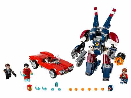 Конструктор LEGO Marvel Super Heroes 76077 Железный человек: стальной Детройт наносит удар