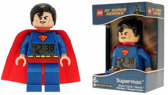 Lego Аксессуары Lego 9005701 Будильник LEGO Super Heroes, минифигура Superman