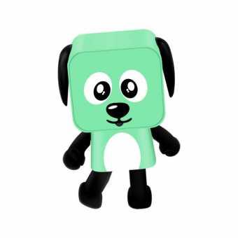 Bluetooth танцующая колонка Speaker Dog зелёная
