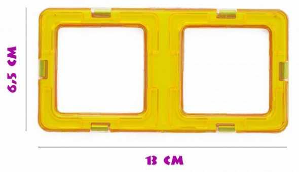 Двойной квадрат  - деталь магнитного конструктора