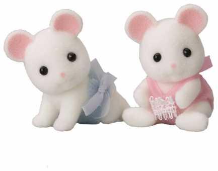 Фигурки Sylvanian Families Белые мышата-двойняшки 3221
