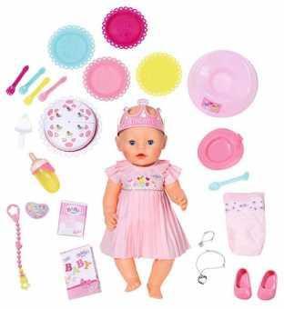 Интерактивная кукла Zapf Creation Baby Born 825129 Нарядная с тортом, 43 см