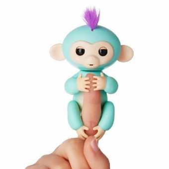 Интерактивная обезьянка fingerlings BABY MONKEY (бирюзовая)