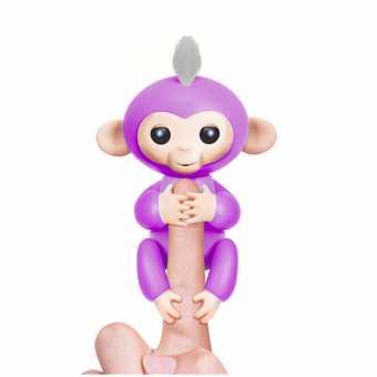 Интерактивная обезьянка fingerlings BABY MONKEY (фиолетовая)