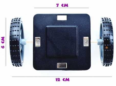 Колесная пара - деталь магнитного конструктора