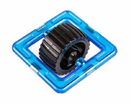 Колесо в квадрате - деталь магнитного конструктора
