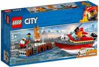 Конструктор LEGO City 60213 Пожарные: Пожар в порту