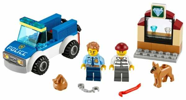 Конструктор LEGO City 60241 Полицейский отряд с собакой