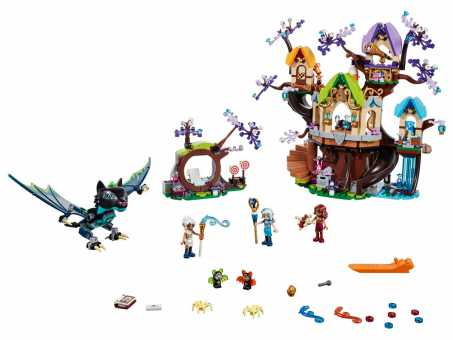 Конструктор LEGO Elves 41196 Нападение летучих мышей на Дерево эльфийских звёзд
