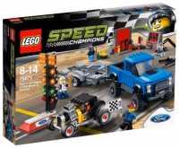 Конструктор LEGO Speed Champions 75875 Форд F-150 Раптор и Форд Model A Хот-род