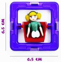 Квадрат с девочкой - деталь магнитного конструктора