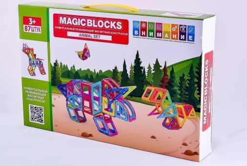 Магнитный конструктор Magic blocks , 87 шт.