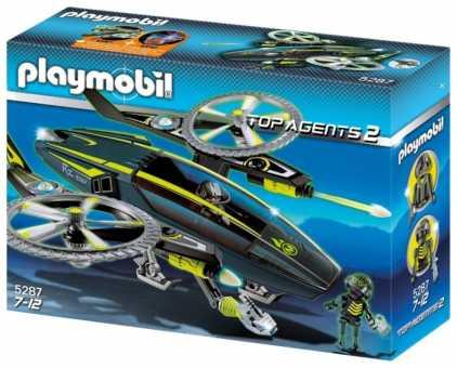 Набор с элементами конструктора Playmobil Top Agents 2 5287 Магма мастера и вертолет