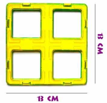 Новый суперквадрат (4квадрата) - деталь магнитного конструктора
