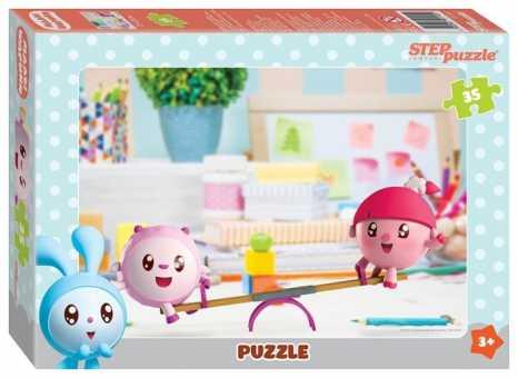 Пазл Step puzzle Барашек и Нюшенька на качелях, Малышарики (91145), 35 дет.