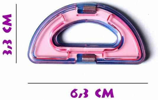 Полукруг (премиум) - деталь магнитного конструктора