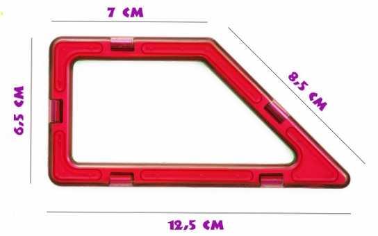 Прямоугольная трапеция- деталь магнитного конструктора