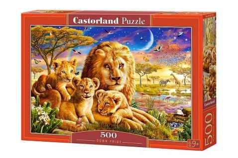 Пазл Castorland Dawn Pride Семья львов (B-52134) , элементов: 500 шт.