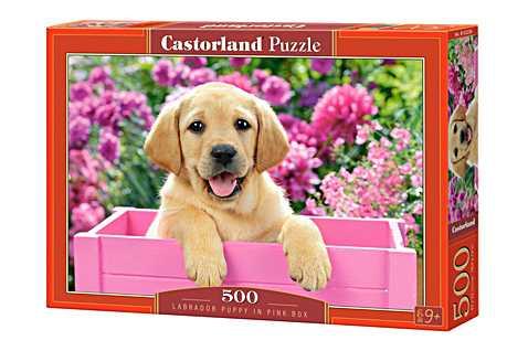 Пазл Castorland Labrador Puppy in Pink Box Щенок в розовой коробке (B-52226) , элементов: 500 шт.