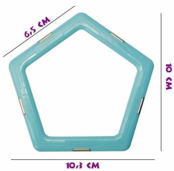 Пятиугольник (матовый) - деталь магнитного конструктора