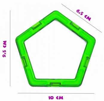 Пятиугольник (премиум) - деталь магнитного конструктора
