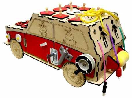 Бизиборд развивающая машинка джип