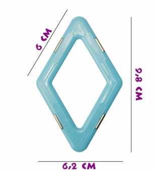 Ромб (матовый) - деталь магнитного конструктора