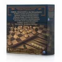 SM6038107 - Настольная игра Spin Master 3-в-1 (шахматы, шашки, нарды)