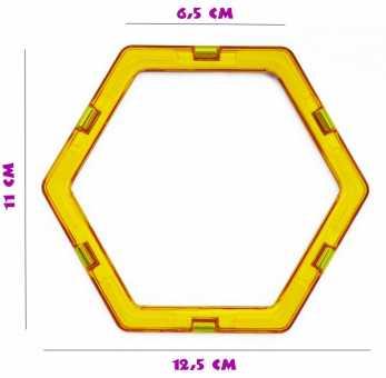 Шестиугольник - деталь магнитного конструктора