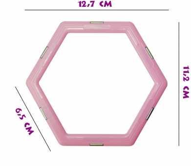 Шестиугольник (матовый) - деталь магнитного конструктора