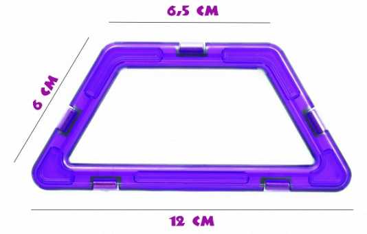 Трапеция (премиум) - деталь магнитного конструктора