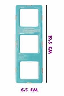 Тройной квадрат матовый - деталь магнитного конструктора