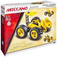 Винтовой конструктор Meccano Junior 15105 Фронтальный погрузчик 3 в 1