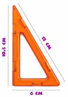 Высокий прямоугольный треугольник - деталь магнитного конструктора